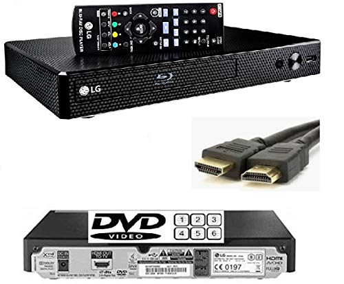 LG BP250 Bluray Player (European REGION)/DVD (MULTIREGION) /CD Player, Remote/Compact/Black with Up-scaling and External Hard Drive Facility