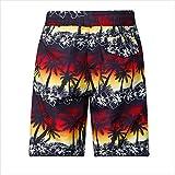 Pantalones Cortos De Playa para Hombres Hombres De Verano Hombres Natación Cómodo Outdoor Traje De Baño Moda Impresa Pantalones Cortos De Playa Sueltos Pantalones con Cordón Pantalones Casuales