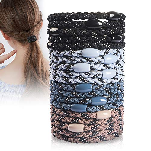 20 PCS Ponytail Holders Thick Hair Ties for Women,Hair Ties for Thick Hair, No Crease No Damage Elastic Hair Ties,Simplicity Coil Tair Ties colorful.