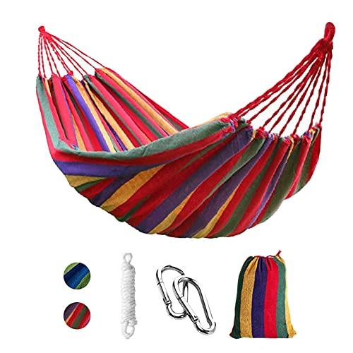 Punvot Hamaca para Camping, Tela de Lona Gruesa y Duradera, para Senderismo y Actividades al Aire Libre, Colgante de jardín, árboles, Playa, Patio, con Bolsa de Transporte Correas de árbol y Cuerda
