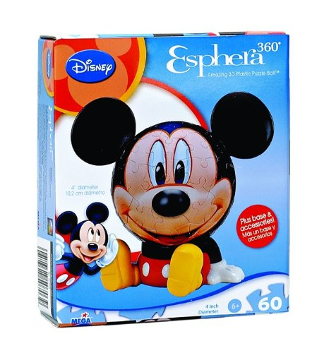 "4"" Esphera Disney Mickey Puzzle Head 60 Piece"