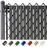 Chain-Link W Shape Bottom Lock Fence Slats (4-ft,...