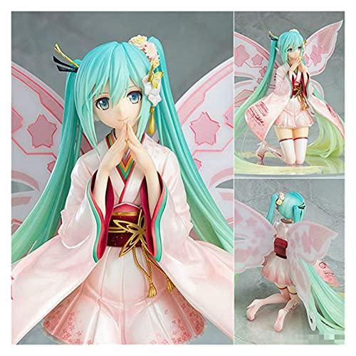 22 cm modelo ani-me, miku quimono corridas hatsune rosa leprechaun PVC Figura modelo de ação pop ornamento 22 cm como uma foto (Color : Als foto, Size : 22cm)