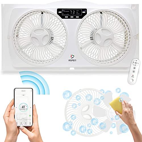 ASPEN Smart Window Dual Fan | WiFi App Controlled...