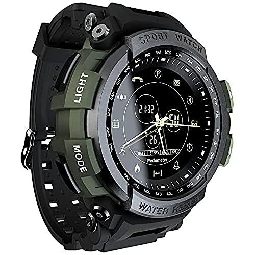 Sunton Reloj inteligente deportivo, rastreador de actividad física, recordatorio reloj digital reloj inteligente para hombres y mujeres (verde)