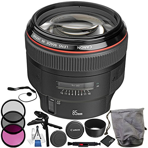 Canon EF 85mm f/1.2L II USM Lens 11PC Accessory Kit – Includes Lens Cleaning Pen + Lens Cap...
