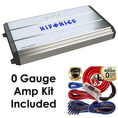 Hifonics Zeus ZXX3200.1D 3200W Class D Monoblock Car Amplifier w/Amp Kit