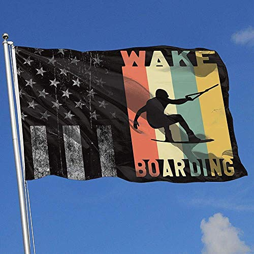 Like-like Haus Flagge abgenutzte USA Flagge Wakeboarden Retro Hockey Outdoor Indoor Sport Bunte Basketball Baseball 90X150Cm Hübsche Druck