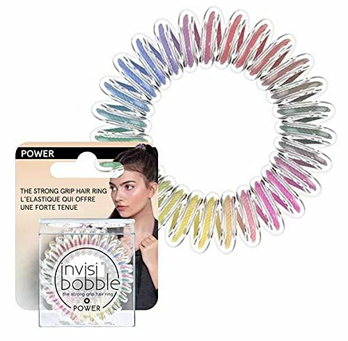 invisibobble Power Haargummis Magic Rainbow I 3x bunte Haargummis für dickes Haar, aktiven Lifestyle und Sport I extra starker Halt I das Original, designed im Herzen Münchens
