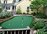 """StarPro 15ft x 28ft 5-Hole Professional Practice Putting Green 'Best in the World."""""""