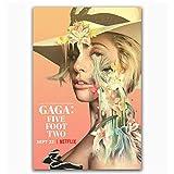 Poster und Drucke Lady Gaga Fünf Fuß Zwei 2017 Netflix