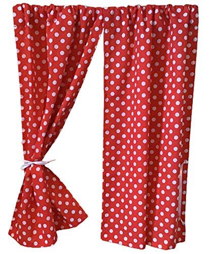 GooseBoose Vorhänge für Spielhäuser, mit roten Punkten