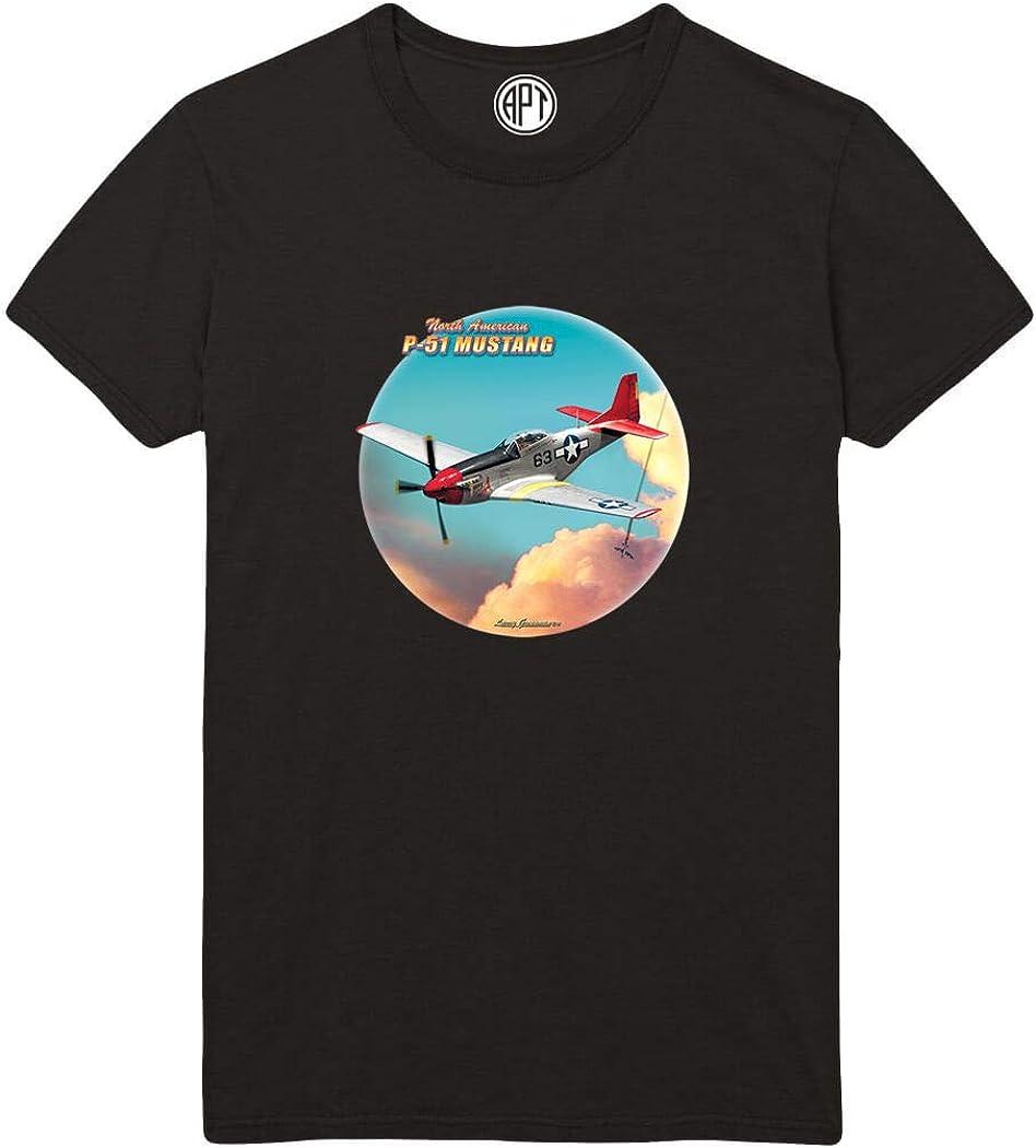 P-51 Mustang Red Tail Printed T-Shirt