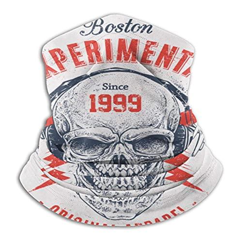 asdew987 Diseño creativo de calavera hombres y mujeres de microfibra calentador de cuello Polaina elástico cubierta de la cara media máscara tubo bufanda versatilidad bandana diadema diadema