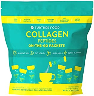 Further Food Collagen Peptides Protein Powder On-The-Go Stick Packets (35 Sticks)