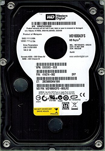 Western Digital wd1600adfs-60slr2Raptor 160GB DCM: hbca2ab