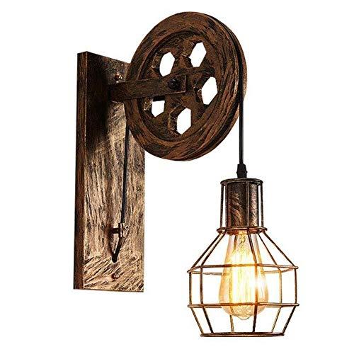LONGWDS Lámpara de pared retro loft luz colgante suspensión luz de elevación polea lámpara de pared restaurante pasillo Pub café luz sujetador lámpara lámpara