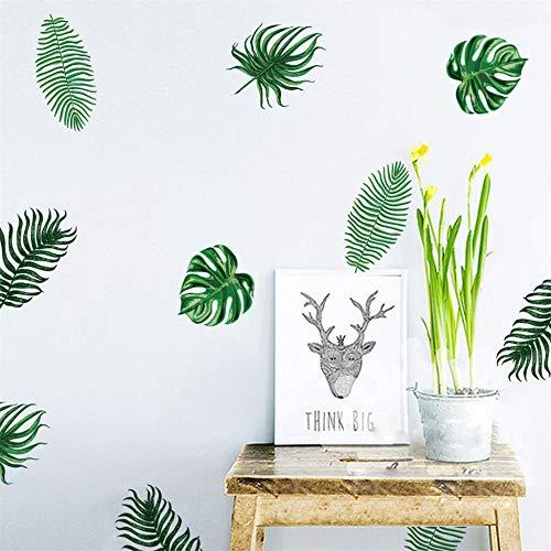 Bdhnmx 3D fotobehang Scandinavische palmbladeren minimalistisch Ins kinderkamer behang