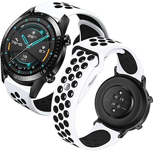 Th-some 22mm Correa para Huawei Watch GT2, Pulsera de Repuesto para Huawei Watch GT/Watch GT2 Pro/GT2e/Samsung Galaxy Watch 46mm/Galaxy Watch 3 45mm/Gear S3 Frontier/Classic/Garmin vívoactive 4