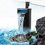 LONDAFISH Filtro de tortuga de bajo nivel de agua, bomba de filtro de agua para tanque de tortuga, tanque de peces, tanque de anfibios para mascotas (filtro de acuario de 600 l/h)