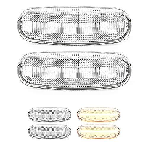 2 x LED Blinker Seitenblinker Blinkleuchte mit E4-Prüfzeichen White Vision V-174407