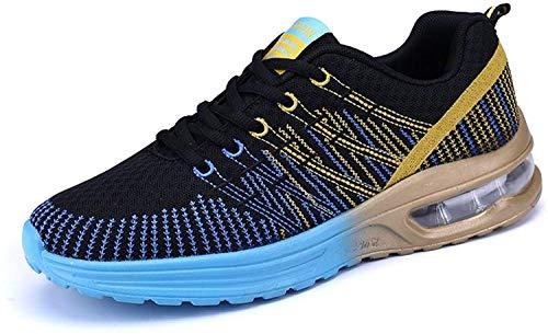Zapatos de Running Para Hombre Zapatillas Deportivo Outdoor Calzado Asfalto Sneakers Negro Azul 43