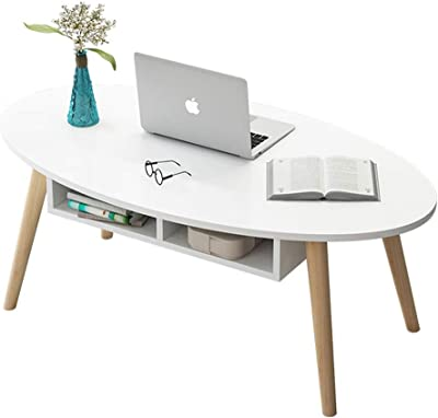 LF- Small Coffee Table Wood 120 * 60 * 42cm Furniture Decorated Living Room Balcony Home and Office Table Chic (Color : White, Size : 120 * 60 * 42cm)
