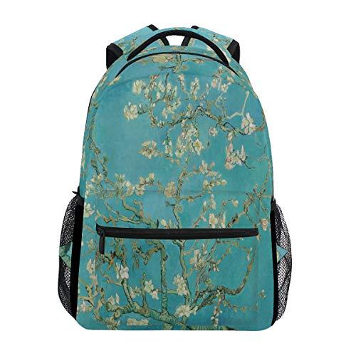Van Gogh Flower School Backpack for Girls Kids Almond Blossom Tree Student Bookbag Elementary Travel Laptop Daypack Shoulder Bag
