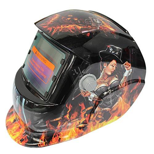 Solar Powered Welding Helmet Auto Darkening Hood with Adjustable Shade Range 4/9-13 for Mig Tig Arc Welder Mask
