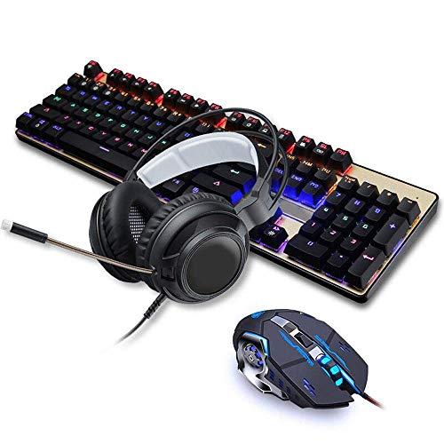 L-YINGZON Teclado Teclado Ratón Headset Set Computer portátil for Juegos Teclado Ratón de Tres Piezas Teclado Gaming Gaming Gaming periférica