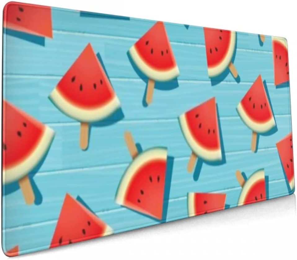 Gaming Mouse Pad Watermelon OFFicial store Slice On Mat New product type Summer Blue Wooden Desk
