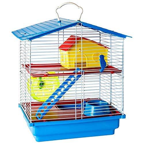 Gaiola de 2 andares para Hamster com Teto Plástico Completa Jel Plast