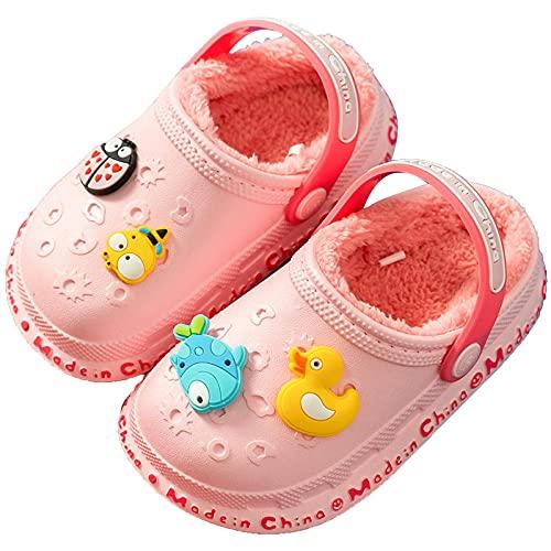 Y-PLAND Pantofole Invernali per Bambini per Bambine, Pantofole comode e comode in Cotone Caldo per Interni ed Esterni per Bambini da Donna-1_EU17