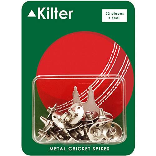Kilter Ersatz-Metall-Cricket-Spikes mit Schraubenschlüssel, 22 Stück + Schraubenschlüssel.