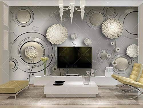 Fotos de papel tapiz personalizado Original lujo rico flor dorada alce Fondo 3D pared-250X160CM