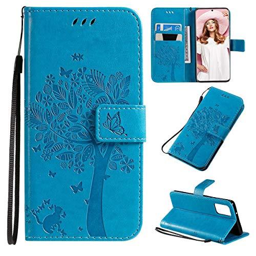 FANNA - Funda para Samsung Galaxy S20 PLUS – Funda para Samsung Galaxy S20 Plus – Funda para teléfono móvil con ranuras para tarjetas, cierre magnético, función atril, protección completa