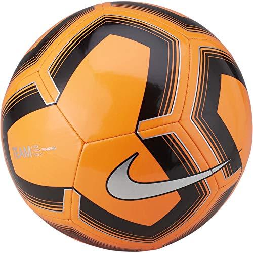 Nike Pitch Training Soccer Ball (Orange/Black/Silver, 4)
