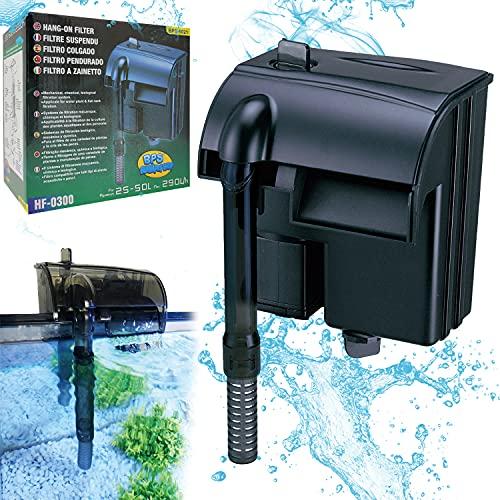 BPS (R Filtro Profesional Acuario, Filtro Externo de Mochila para Pecera,Ahorro de Energía.(3.5W,290L H) BPS-6021
