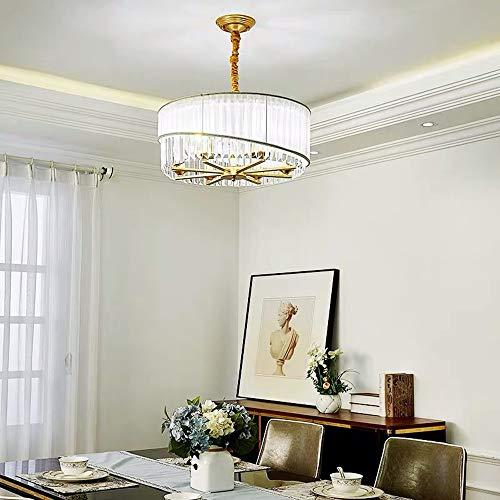 MGWA - Plafón nordico de lujo para comedor o dormitorio, moderno, lámpara de cristal