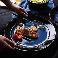 ホームキッチン朝食ステーキウエスタンプレート用10インチセラミックプレートクリエイティブカトラリー