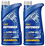 MANNOL Defender 10W40 - Olio motore semi sintetico A3/B4, 2 litri