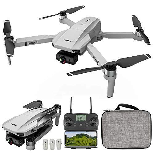 GoolRC KF102 RC Drone GPS con Cámara 4K 2 Ejes Gimbal 5G WiFi FPV Posicionamiento de Flujo óptico Quadcopter Motor sin Escobillas Punto de Interés Waypoint Vuelo con Bolsa de Almacenamiento