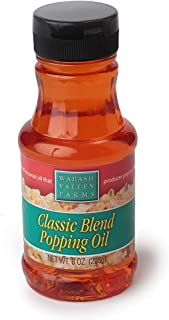 Wabash Valley Farms Classic Blend Popcorn Popping Oil – Certified Kosher Pareve and No Trans Fats - Healthy Popcorn Flavors to Enhance Movie Night and More – 8-Ounce Jar