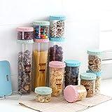 Conveniente tapa de latas de sellado tanques de almacenamiento de alimentos botellas de almacenamiento de plástico grueso cajas de almacenamiento herramientas de cocina Home Organización Frascos