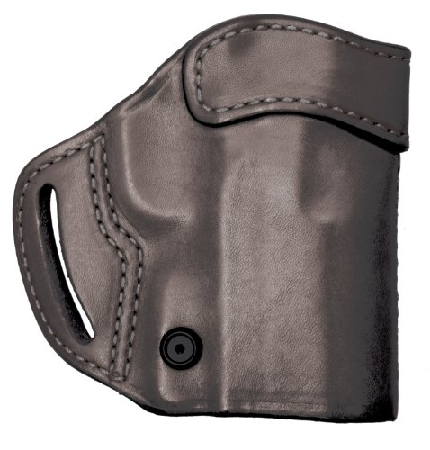 BLACKHAWK Leather Compact Askins Black Holster, Size 23, Left Hand, (Kahr CW9/CW40/P9/P40 (K9/K40))
