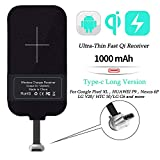 Nillkin Qi Receiver USB C, Thin Wireless Charging Receiver, Type C Wireless Charger Receiver for Galaxy Note 8 Pro/A50/A70/A10s/Xiaomi Note 8/Huawei P30 and Other Type-C Android Phones(Long Version)