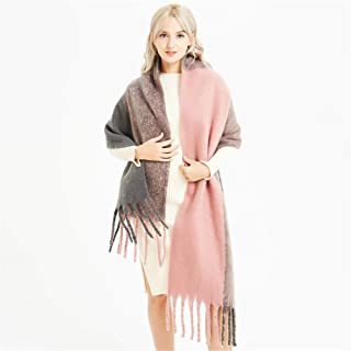 Womens Scarfs Shawl Wraps Womens Oversized Scarf - Warm Solid Color Thick Ladies Shawl for Winter