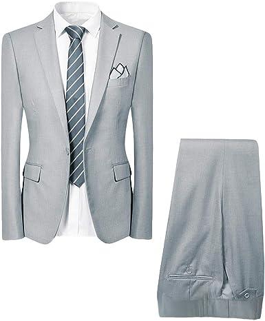 Allthemen - Traje de boda para hombre, corte ajustado, traje ...