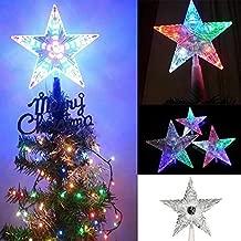 Raajaoutlets Clear Plastics LED Christmas Tree Star (Transparent)