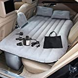 Inflatable Car Travel Bed, Bed Pad, Bed Mattress for Universal Car Outdoor Camping Mat Cushion by OGLAND (Grey)